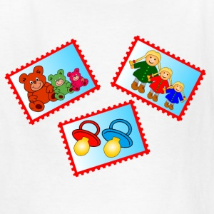 stamps with toys - Kids' T-Shirt
