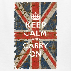 UK Flag and Keep Calm Hybrid - Kids' T-Shirt