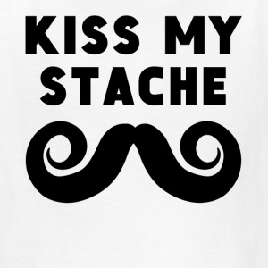 Kiss My Stache - Kids' T-Shirt