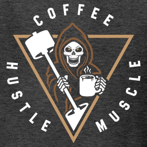 Coffee Hustle Muscle Grim Reaper - Kids' T-Shirt