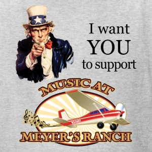 I Want You, Uncle Sam - Music at Meyer's Ranch - Kids' T-Shirt