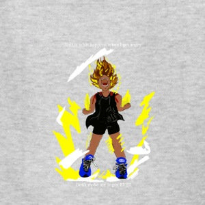 I turn Super Saiyan when I'm angry! - Kids' T-Shirt