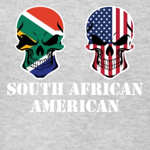 South African American Flag Skulls - Kids' T-Shirt