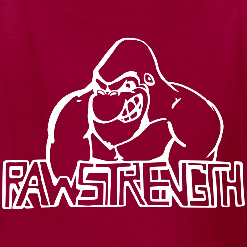 Raw Strength Logo - Kids' T-Shirt
