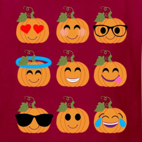 Halloween Design Pumpkin Emoticon - Cute Design - Kids' T-Shirt