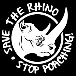 Save the rhino, stop poaching!