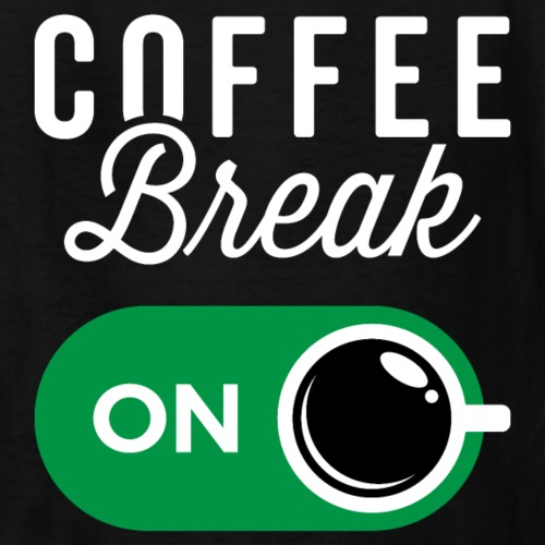 Coffee Break On - Kids' T-Shirt