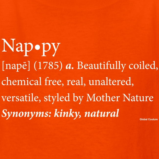 Nappy Dictionary_Global Couture Women's T-Shirts