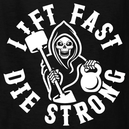 Lift Fast Die Strong - Kids' T-Shirt