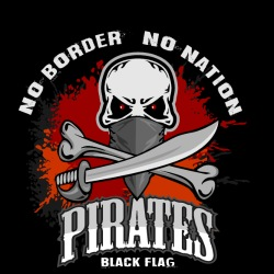 No border no nation - pirates black flag