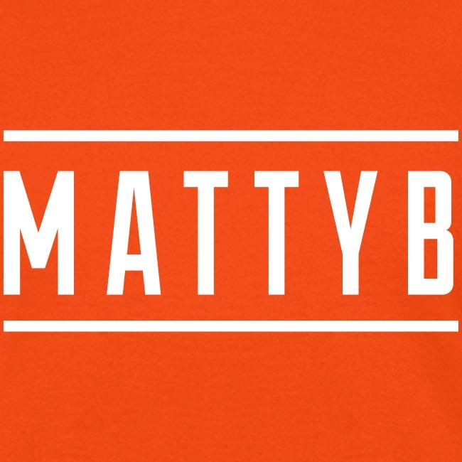 MattyB White Logo