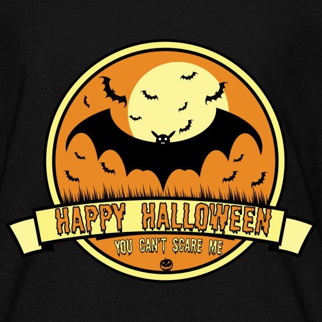 Can't Scare Me October Moonlit Spooky Vampire Bat.
