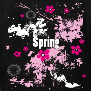 Spring time flowers, grunge style - Kids' T-Shirt