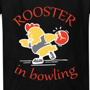 Rooster in Bowling - Kids' T-Shirt
