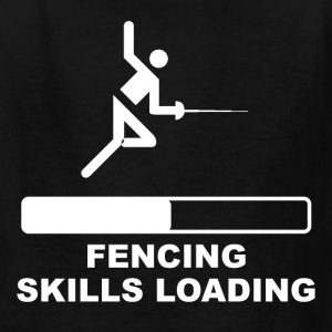 Fencing Skills Loading - Kids' T-Shirt