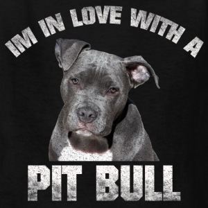 IN LOVE WITH A PIT BULL VINTAGE GRUNGE SHIRT - Kids' T-Shirt