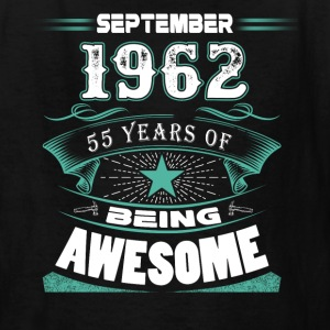 September 1962 - 55 years of being awesome - Kids' T-Shirt
