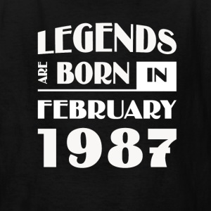 Legends are born in February 1987 - Kids' T-Shirt