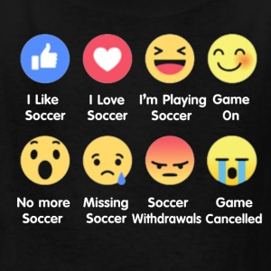 I Love Soccer Emotion Shirt - Kids' T-Shirt