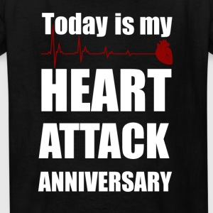 Heart attack anniversary - Kids' T-Shirt