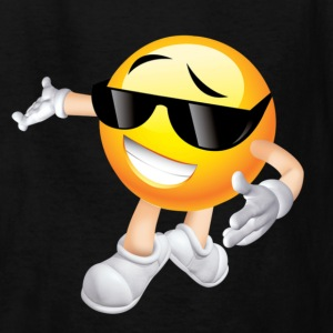 Cool Smiling Face with Sunglasses - Kids' T-Shirt