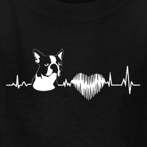Boston Terrier Heartbeat Shirt - Kids' T-Shirt