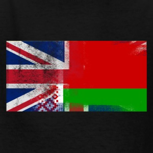 British Belarusian Half Belarus Half UK Flag - Kids' T-Shirt