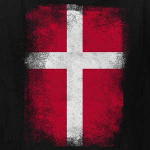 Denmark Flag Proud Danish Vintage Distressed - Kids' T-Shirt