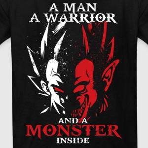 dragon ball majin vegeta monster in side - Kids' T-Shirt