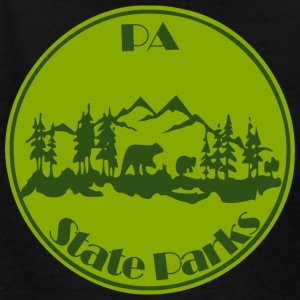 PA State Parks Bear Green - Kids' T-Shirt