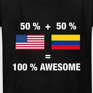 Half Colombian Half American 100% Awesome Colombia - Kids' T-Shirt
