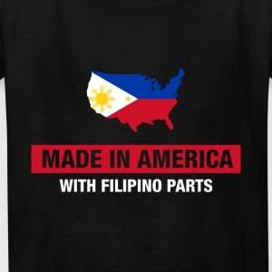 Made In America With Filipino Parts Philippines - Kids' T-Shirt