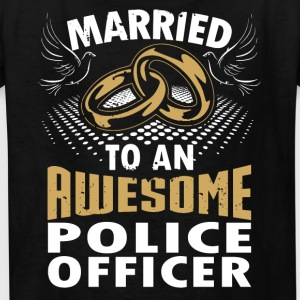 Married To An Awesome Police Officer - Kids' T-Shirt
