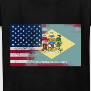 Delaware American Flag Fusion - Kids' T-Shirt