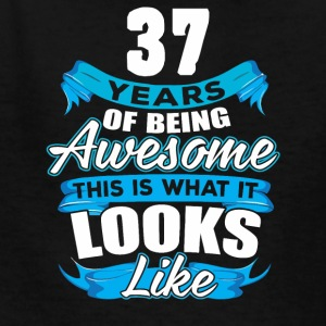 37 Years Of Being Awesome Looks Like - Kids' T-Shirt