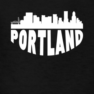 Portland OR Cityscape Skyline - Kids' T-Shirt