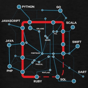 Code Language Map - Kids' T-Shirt