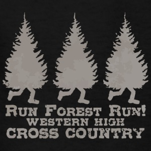 Run Forest Run Western High Cross Country - Kids' T-Shirt