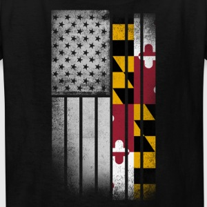 USA Vintage Maryland State Flag - Kids' T-Shirt