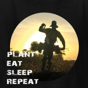 Tree Planter - Plant Eat Sleep Repeat (dark) - Kids' T-Shirt
