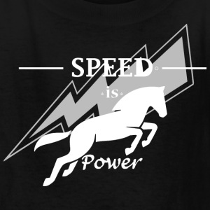 Speed is horse power - Kids' T-Shirt