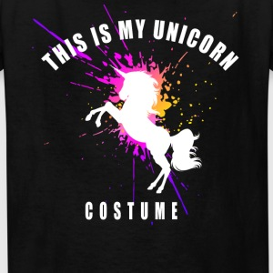 unicorn costume pink romantic girl splash humor lo - Kids' T-Shirt