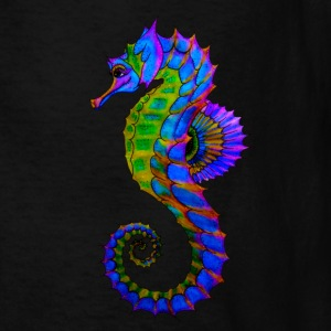 Vibrant Colored Seahorse - Kids' T-Shirt