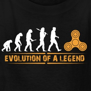 Fidget Spinner - Evolution of a Legend - Kids' T-Shirt