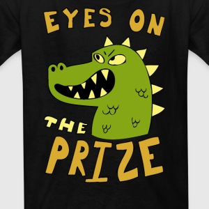 Eyes on the prize dinosaur - Kids' T-Shirt