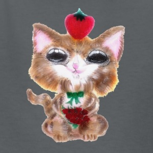 Fluffy Strawberry Cat - Kids' T-Shirt