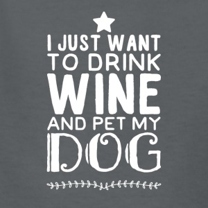 I just want to drink wine and pet my dog - Kids' T-Shirt