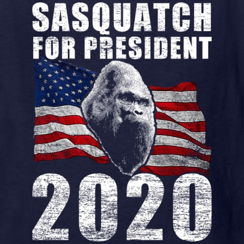 Sasquatch Bigfoot For President 2020 Poster Shirt - Kids' T-Shirt