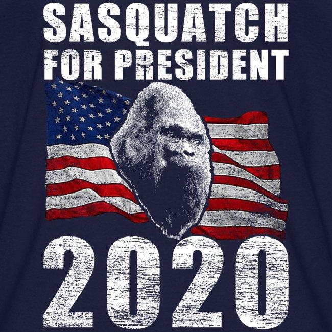 Sasquatch Bigfoot For President 2020 Poster Shirt