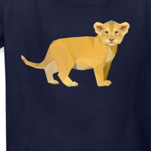 Adorable Lion Cub Triangular Design - Kids' T-Shirt